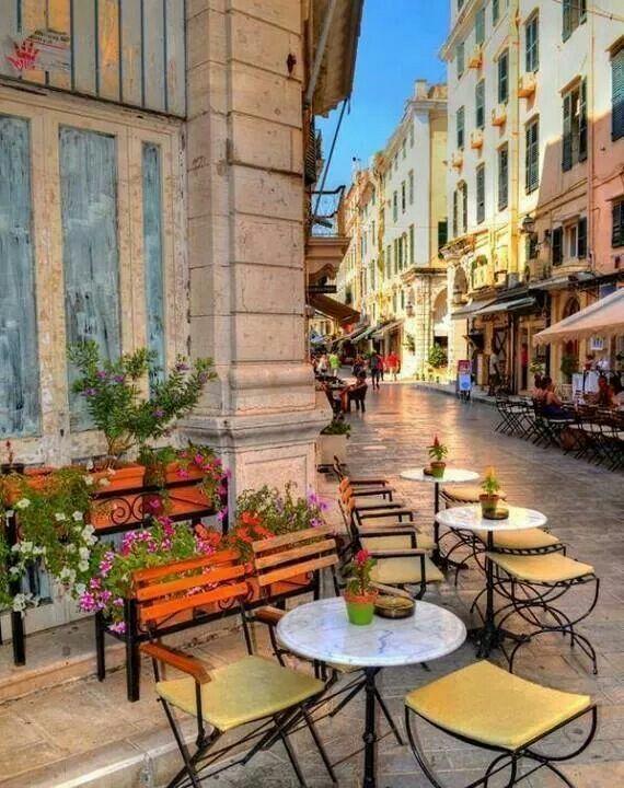 A beautiful street in Corfu island!!! Ionian