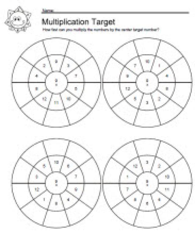 Multiplication Facts for 7 Worksheets: 7 Times Tables Target Worksheet 1 of 5