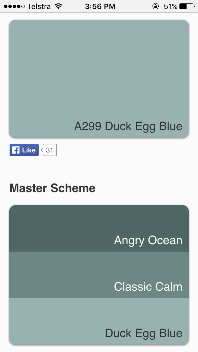 #Dulux Classic Calm/Duck Egg Blue A299