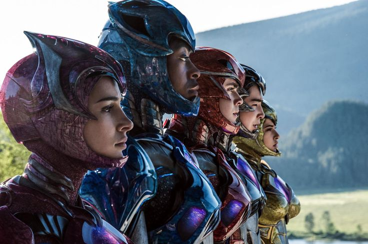New picture of the Power Rangers reboot. The cast in their power suits.