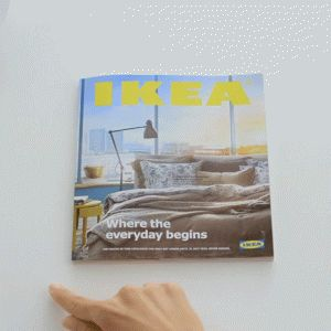 """Ikea spoofs Apple with launch of """"Bookbook"""" – its new print catalogue."""