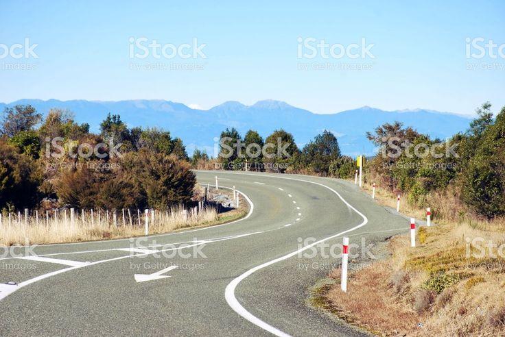 Road-Scape, Tasman Region, New Zealand royalty-free stock photo