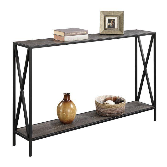Abbottsmoor Metal Frame Console Table Narrow Sofa Table Metal