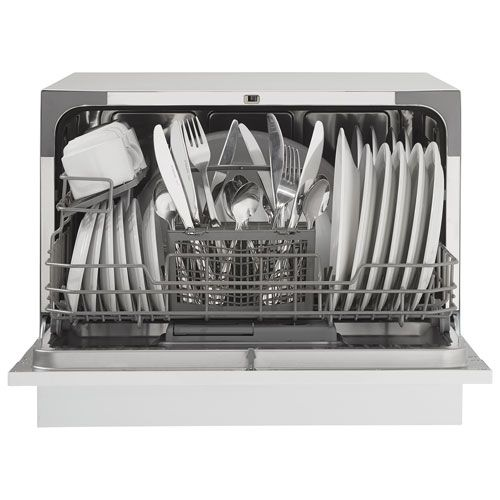 Countertop Dishwasher Best Buy Canada : When space is scare, the Danby DDW621WDB countertop dishwasher is an ...