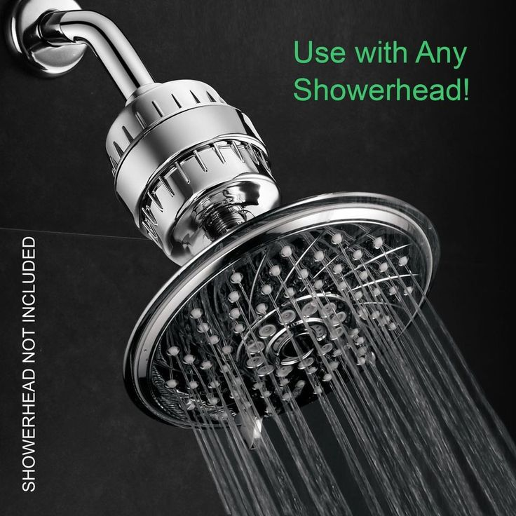 universal shower head filter inline water cartrige softener chlorine odor free
