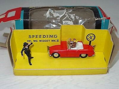 spot on SPEEDING MG MIDGET WITH POLICEMAN - 281 BOXED  £197.99