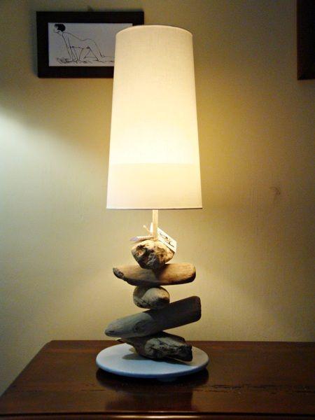 """Lampada """"CLAUDIA"""" con legni di mare di Tendance nature su DaWanda.com"""