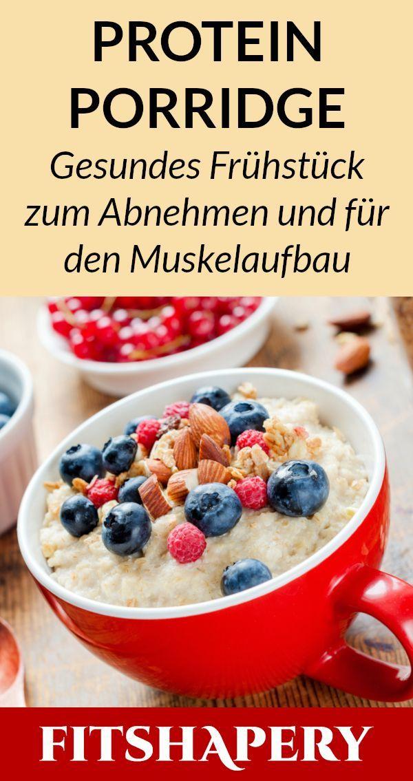 Unser Protein Porridge enthält neben Haferflocken, Beeren und Nüssen auch Eiwe…