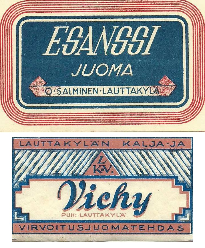 Old Finnish drink labels.