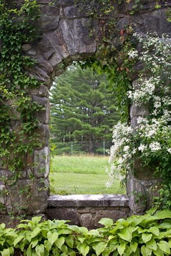 A window into the gardens at The Mount... Edith Wharton's home