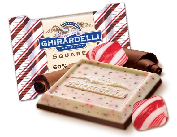 Ghirardelli Peppermint Bark -  I indulge a tiny bit. Too bad it's only around once a year.