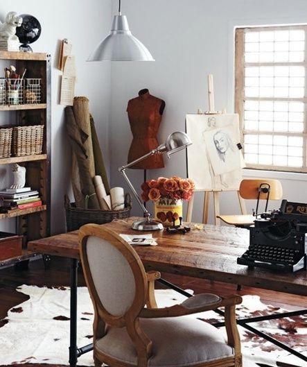 Home Office And Studio Designs: Ideas Para Armar Un Atelier/Estudio/Taller De Arte Y Diseño