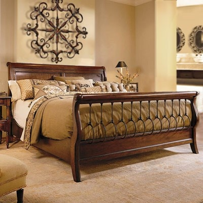 sleigh bed with neutral