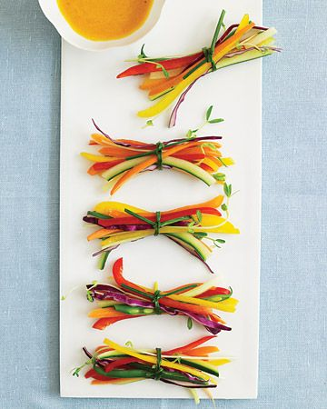 Veggie Bundles-Cool alternative to the boring old Veggie tray!