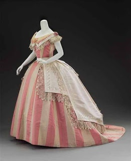 Love the stripes, very 'Sleepy Hollow' 1860s style dress