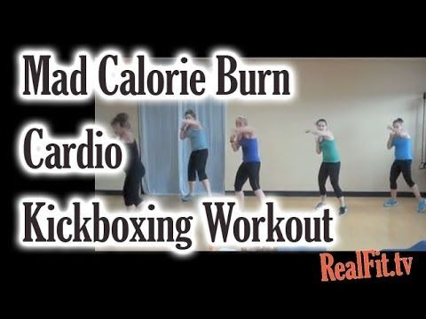 Seriously my favorite workout right now...cardio kickboxing that burns over 600 calories in 50 minutes, and it's super fun!