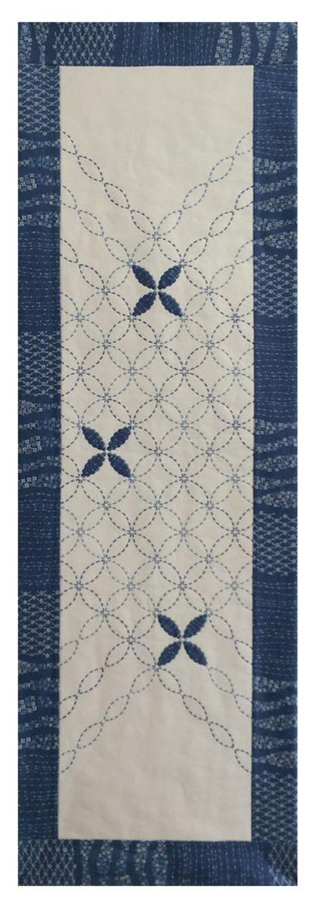 Petal Sashiko Tablerunner Kit SKT-0321 - BEBE BOLD: JAPANESE TEXTILES & CRAFT