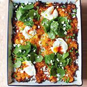 Jamie's Giant Veg Rosti Recipe With Poached Eggs, Spinach