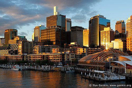 Sydney at Sunset, Darling Harbour, Sydney, NSW, Australia