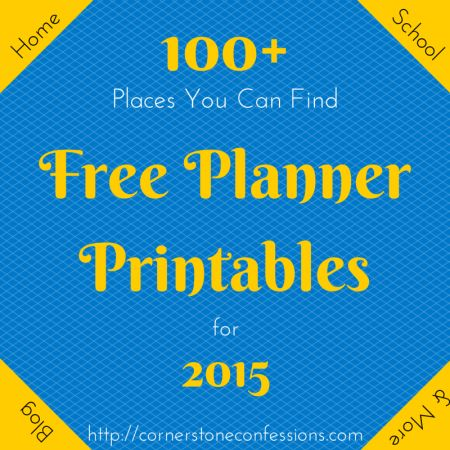 100+ Places You Can Find Free Planner Printables for 2015 #plannerprintables