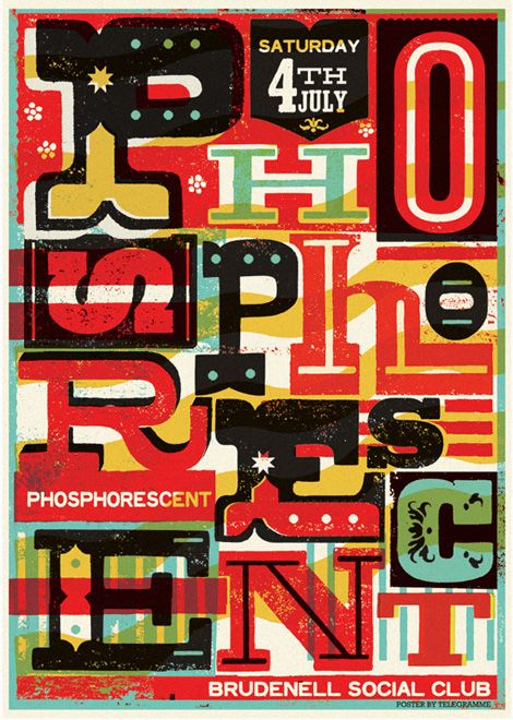 Screenprint Type Telegramme Studio http://grainedit.com/2011/12/14/telegramme-studio