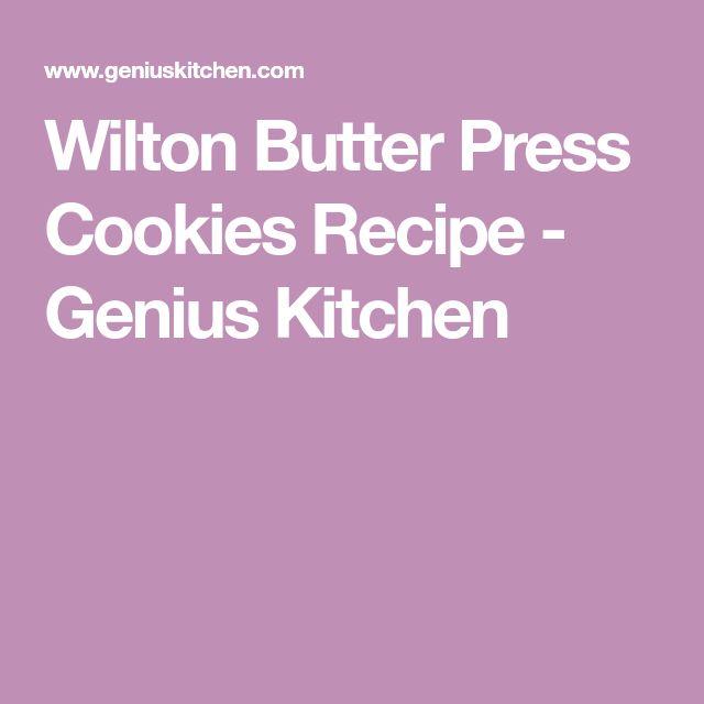 Wilton Butter Press Cookies Recipe - Genius Kitchen