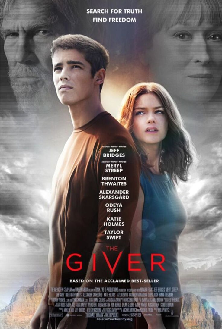 THE GIVER official movie poster Bookish Movies & TV