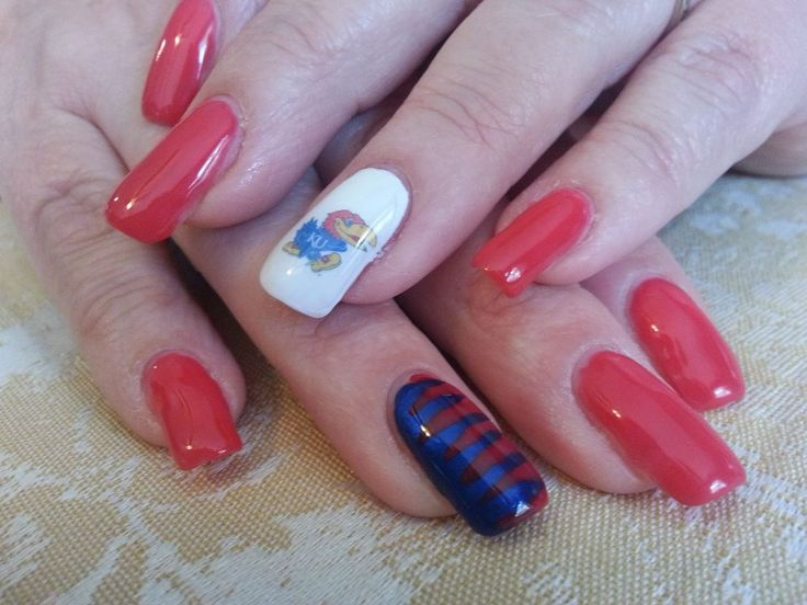 11 Best Ku Nails Images On Pinterest Kansas Jayhawks Fingernail