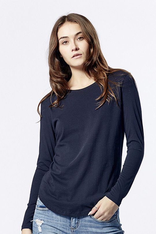 casa kuma - Saddle Hem Long Sleeve Midnight