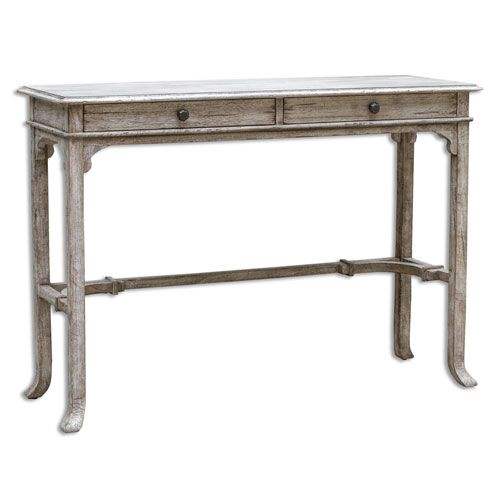 Uttermost Bridgely Antique White Console Table On SALE