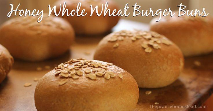 whole wheat hamburger bun recipe