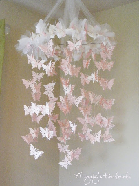 Butterfly Chandelier Mobile - if I had a little girl this would so go in her room!