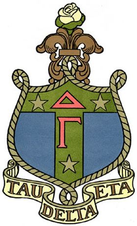 with a D and an E and an L-T-A, I'm Delta Gamma, that's what I am-a! anchored for life.  Gamma E