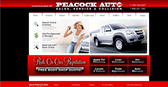 Auto Service and Sales at Peacock Auto, Barrie, Ontario