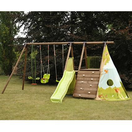 Portique Soulet 'Fort Jungle' bois 585 x 365 cm | Brico