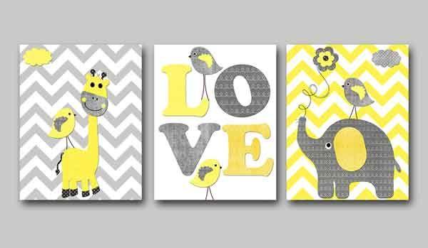 A maioria das pessoas pode torcer o nariz para a sugestão de usar a cor cinza e amarelo no quarto do bebê, mas apesar de não ser algo tão convencional para quartos de recém-nascidos, pode ser uma cor fácil de harmonizar com outros tons e criar um resultado bem suave! Sem falar que o amarelo …