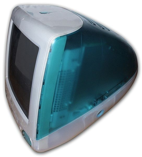 iMac 1998. Apple really sucked then. The only thing cool about the computers were the different colors they came in