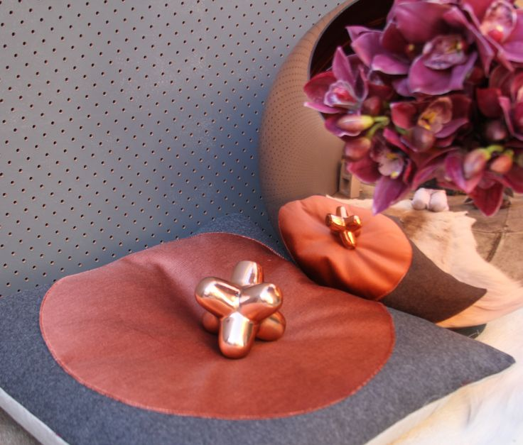 igloo's COPPERBERRY RANGE, 'CIRLCE' design in velvet and wool and flax. Sitting with igloo's favorite Copper designer TOM DIXON  https://www.facebook.com/IglooHome
