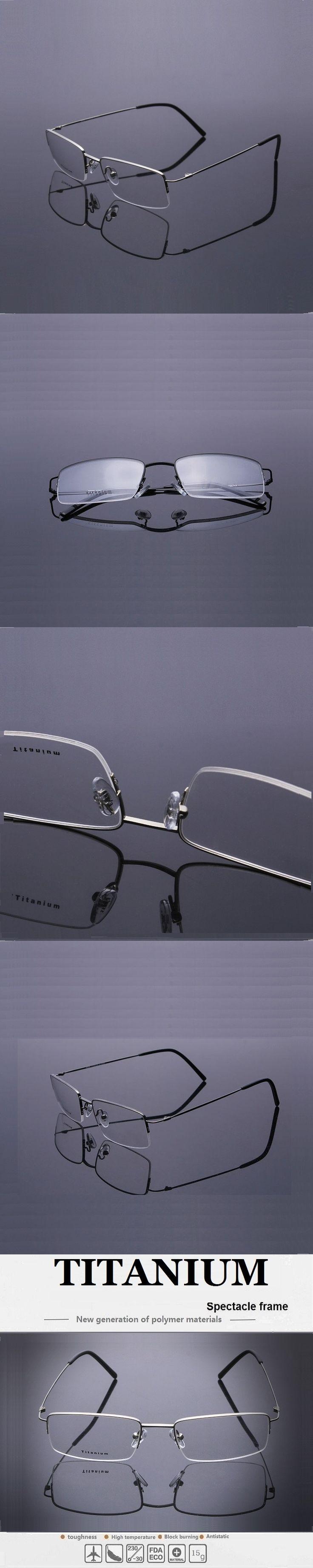 52-18-140 new men's business  titanium spectacle frame half frame myopia spectacles frame 8995 lentes opticos  free shipping