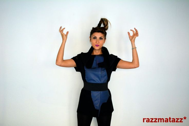 Wool and leather vest by Razzmatazz*  Buy online now at: http://www.razzmatazzshop.com/collections/outer-shells/products/401110