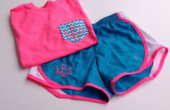 Monogram frocket and athletic shorts outfit #monogram #frocket
