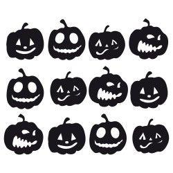 Kürbis, Gesichter, Halloween, Schneidedatei, kostenlos