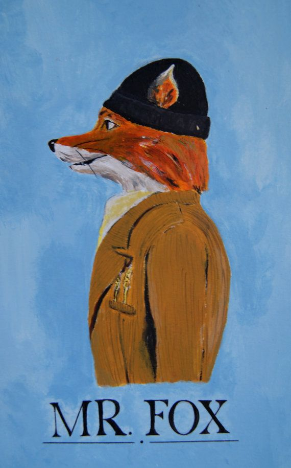 Fantastic Mr Fox print by Maggiesneedle on Etsy