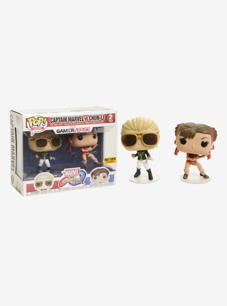 """The epic clash between two storied universes returns with  Marvel vs. Capcom: Infinite , the next era of the highly revered action-fighting video game series. Celebrate its release with all-new Pop! vinyl figures from Marvel and Capcom facing off against each other in collectible 2 pack sets.  Hot Topic exclusive!   Pop! Games  3 3/4"""" tall  Vinyl  Imported  By Funko"""