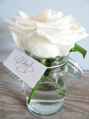 White Rose party favor