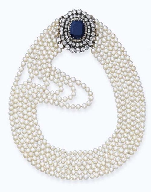 #Pearl Necklace 1890s Christie's