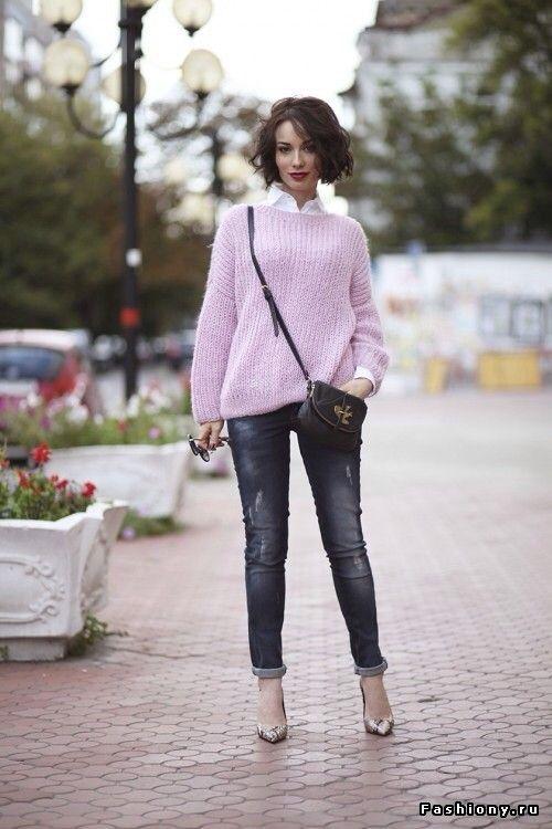 Вяжем объемный свитер оверсайз