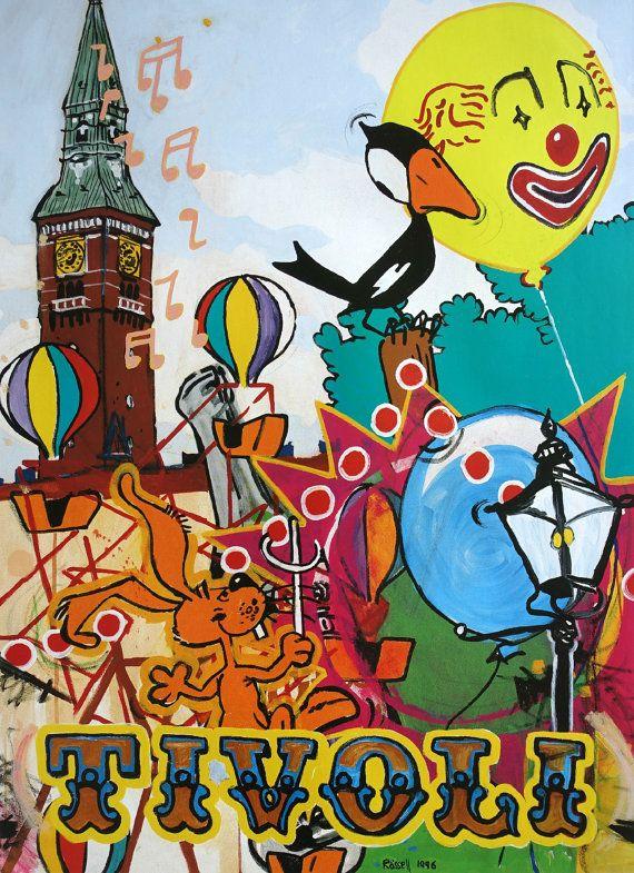 1996 Tivoli Gardens by Peter Rössell  Original by OutofCopenhagen