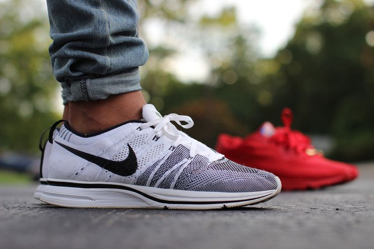 ... nike flyknit trainer+ white black sneakers mens accessories by  designerbum pinterest trainers posts