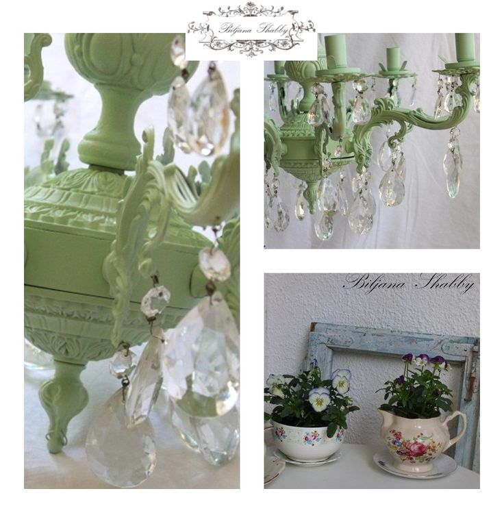DIY your way to a beautiful home with this make new chandelier. {via Biljana Shabby}